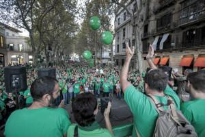 MANIFESTACION EN EL BORNE CONTRA LA LOMCE