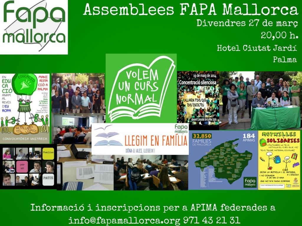 Assemblees FAPA Mallorca