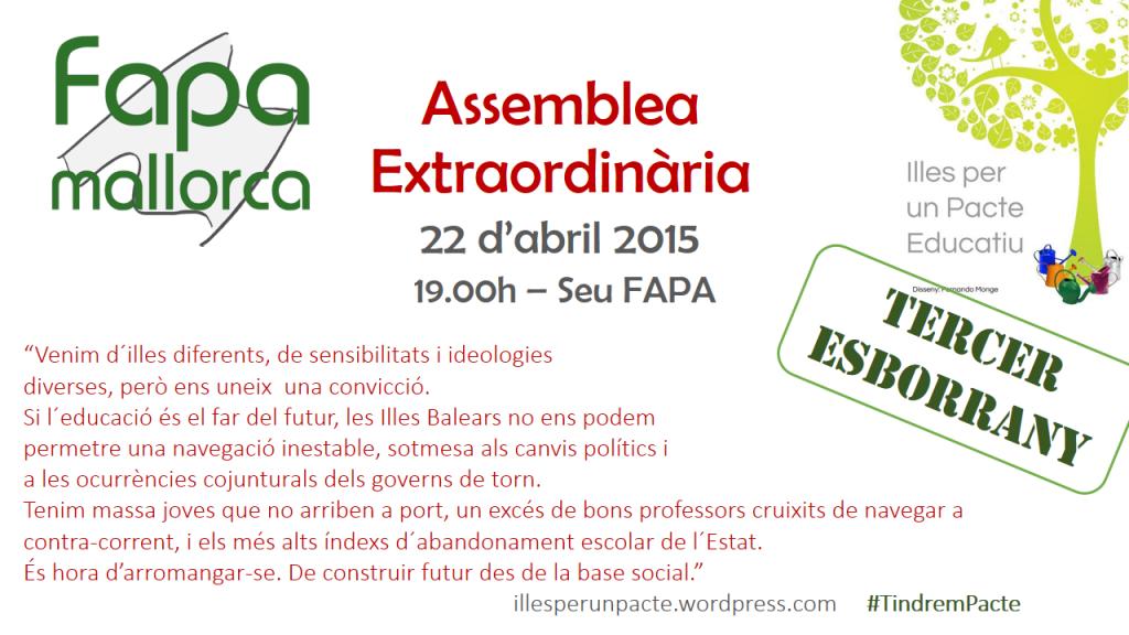 Assemblea extraordinaria abril 2015
