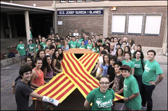 Comunitat Educativa de l'IES Josep Sureda i Blanes, 2013 – Foto: Tolo Ramón